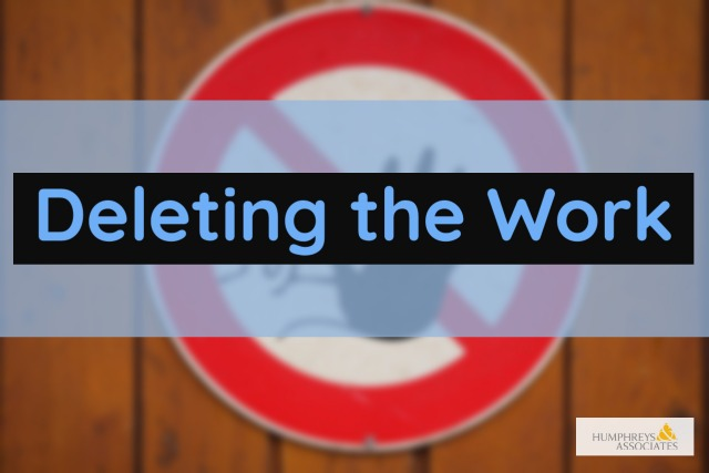 Deleting the Work