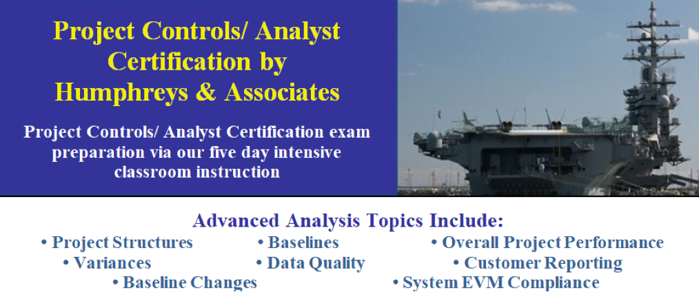 Project Controls Analyst Certification