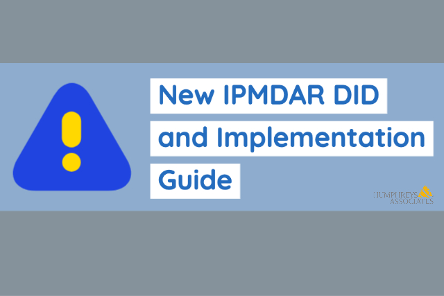 ALERT- New IPMDAR DID and Implementation Guide