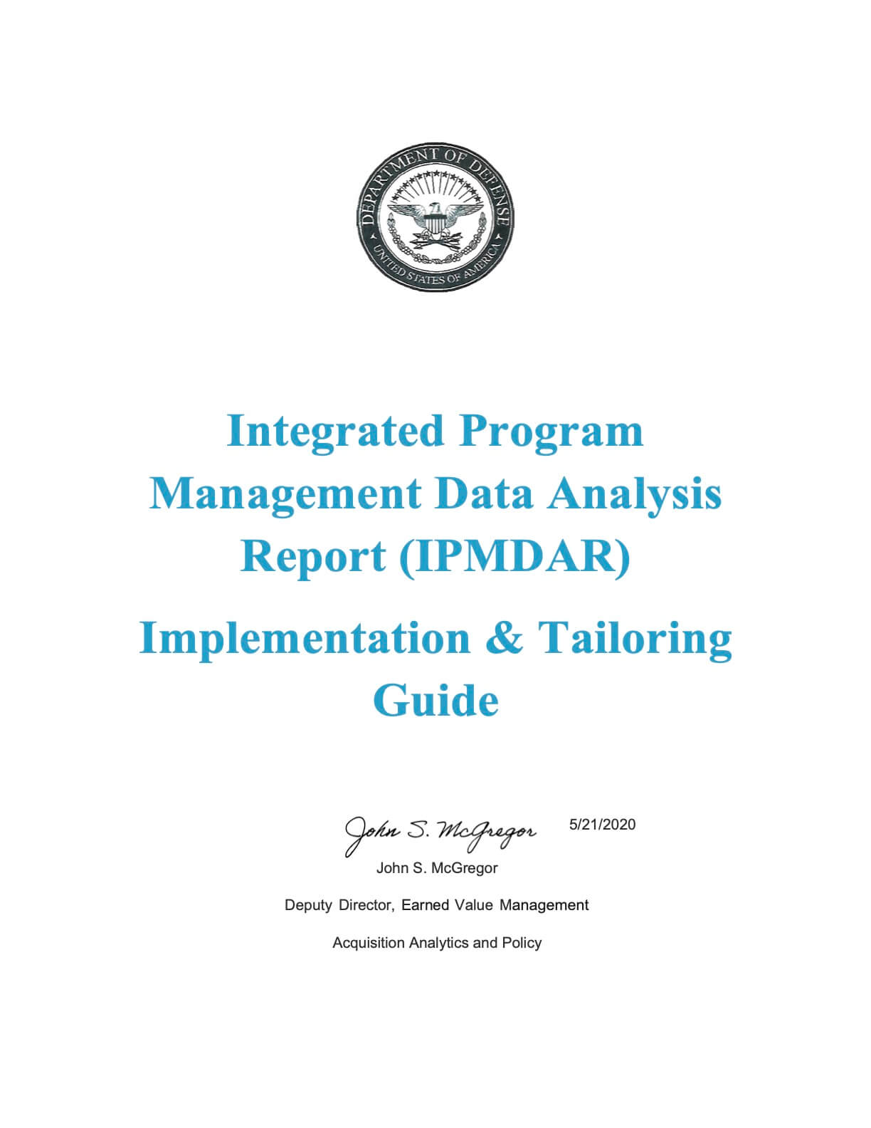 IPMDAR Implementation Guide - May2020 - FINAL - Signed and Dated