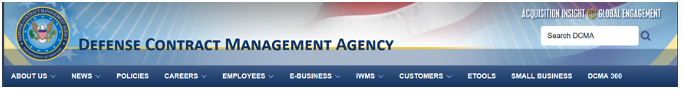 Defense Contract Management Agency Menu